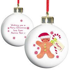 Personnalisez Insérez un message feutre stitch babioles de Noël Tree Décoration 8 designs