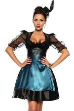 femmes habillent Burlesque costume jupon noir corsage bleu shop online uy 12596
