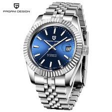 PAGANI DESIGN Luxury Men Auto Mechanical Watches Date Full Steel Band Watch Box
