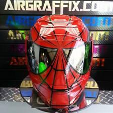Red and Black Spiderman Custom Painted Airbrushed Motorcycle Helmet