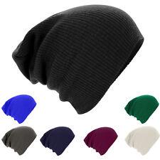 Men Womens Fashion Knit Baggy Beanie Oversize Winter Hat Ski Slouchy Chic Cap SU