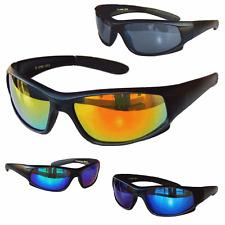 Sportbrille Sonnenbrille Black matt verspiegelt Fahrradbrille Sport Brille  M1