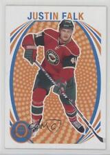 2013-14 O-Pee-Chee Retro #492 Justin Falk Minnesota Wild Hockey Card