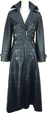 UNICORN Femmes Plein Longueur Réal Cuir trench - Manteau gothique Emo Style #M5
