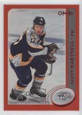 2002-03 Topps O-Pee-Chee Red #206 Scott Hartnell Nashville Predators Hockey Card