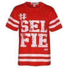 haut fille enfants designer # Selfie IMPRIMÉ ROUGE BASEBALL AMÉRICAIN T-shirt