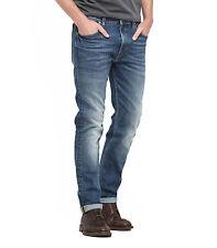 Lee Rider Mens Regular Waist Tapered Slim Leg Stretch Denim Jeans Blue Surrender