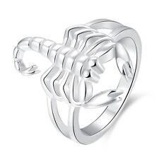 Sterling Silver Plated Fashion Ring Women Scorpion B383