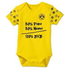 """BVB-Babybody """"Nur der BVB""""  gelb  Gr. 50/56-86/92  Borussia Dortmund"""