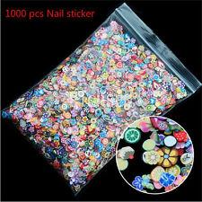 1000PCS 3D Fruit Fimo Slice Clay DIY Nail Art Tip Sticker Decoration SE