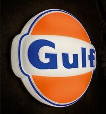 GULF LOGO LED LIGHT BOX WALL SIGN GARAGE OIL GAS STATION PETROL GASOLINE  DEN