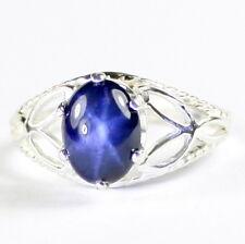 Blue Star Sapphire, 925 Sterling Silver Ladies Ring-Handmade, SR137