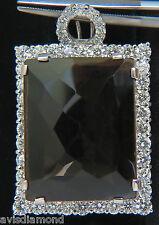█$9200  HUGE 52.34CT NATURAL FANCY BROWN TOPAZ DIAMOND NECKLACE & OMEGA 14KT A+