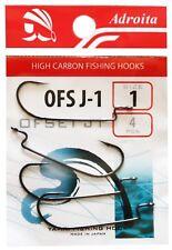 Adroita Worm Hook Offset Shank Fishing Hacken Raubfisch Angelhaken OFS J-1