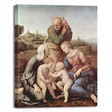 Raffaello sacra famiglia Canigiani quadro stampa tela dipinto telaio arredo casa