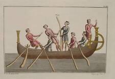 Angelsachsen Germanen Marine Ruderboot Ruder Anker Mittelalter England Wikinger
