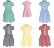 Girls school dress uniform gingham checked yellow red green blue
