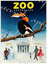 Vintage Copenhagen Zoo Toucan Poster A3/A4 Print