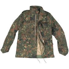 M65 Combat Field Parka Mens Army M-65 Jacket Military Coat Flecktarn Camo S-3XL