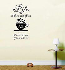 Leben ist wie ein cup of tea inspirierende angebot aufkleber vinyl wandkunst