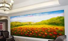 Papel Pintado Mural De Vellón Campo De Flor Abstractas 23 Paisaje Fondo Pantalla