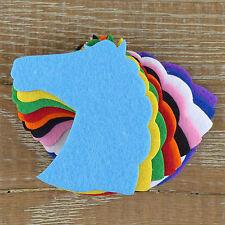 10x 3mm Felt Horse Head Craft Shapes Sizes 6-15cm 11 Colours