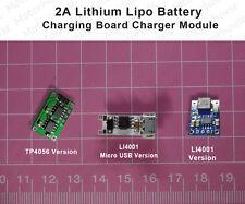2A Lithium Lipo Battery 18650 Charging Board Mini USB LED Charger Module 3.7v