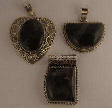 Jaspis Anhänger in 925 Sterlingsilber, Edelstein Anhänger in Silber