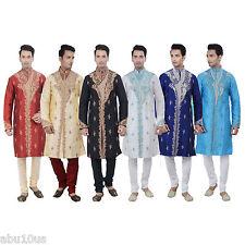 Indian Designer Kurta Sherwani for Men 2pc Suit - Worldwide Postage