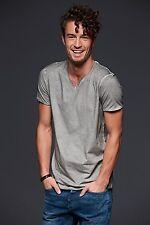 Men's Gipsy T-shirt T-shirt con scollo a V, 100% cotone single jersey