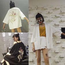 Japanese Kimono Coat Matsuri Yukata Outwear Top China Dragon Casual Fancy Dress