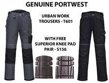 Portwest URBAN Workwear Mens Hi Quality Trousers Holster Pockets 2 Knee pad T601