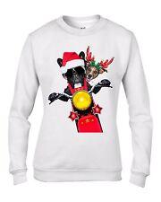 French Bulldog & Jack Russell Santa Claus Christmas Women's Sweater Jumper