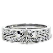 Platinum 1/3ct Diamond Engagement Wedding Ring Setting Semi Mount Set
