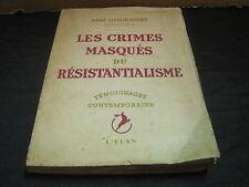 Abbé DESGRANGES: les crimes masqués du résistantialisme