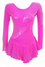 Skating dress-CARAMELLA ROSA Lycra / Ologramma Multi-tutte le taglie disponibili (S102)