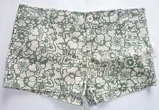 Womens Girls AEROPOSTALE Green Floral Shorts NWT #5153