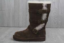 29 Ugg Australia Maddi Chocolate Brown 1001520 Youth Kids Zipper Buckle Boots 13