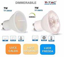 LAMPADINA FARETTO LED GU10 7W V-TAC LAMPADA SPOT BULBO FARO DIMMERABILE  DIMMER