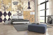Impresión De Pared de papel de ajedrez 3D Caballero Pared Calcomanía Pared Deco interior murales