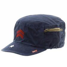 Kurtz Men's Fritz Airborne Navy Cotton Military Cap Hat