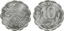 Béziers, Grand Café Glacier, 10 cts aluminium, 1921, monnaie de nécessité - 3
