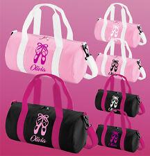 Personalizado Para Niñas Damas Bailando Danza uniforme Kit Bolsa De Deporte-Zapatos De Ballet logotipo