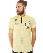 Redbridge Herren Professionel Design Slim Fit kurzarm Hemd gelb R-2123 R2123