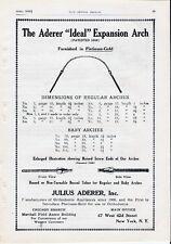 Advertising Dental Supply Dentist Teeth Platinum Gold Ideal Arch  1919