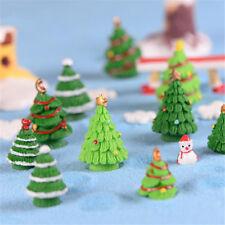 Christmas Xmas Tree Miniature Figurine Dollhouse Garden Decor Micro LandscapeX5