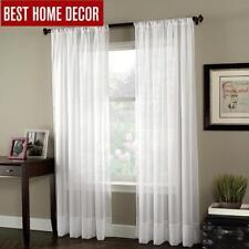 BHD soild white tulle sheer window curtains for living room the bedroom modern t
