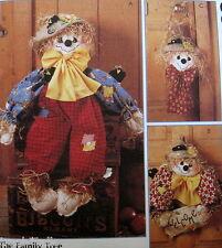 Scarecrow harvest halloween doll door greeter pattern M8388 Jackie Bessner