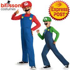 CK1632 Super Mario Bros Luigi Red Green Boys Child Game Gaming Nintendo Costume