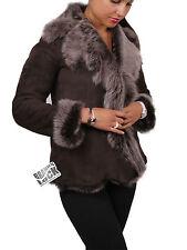 Women's Real Sheepskin Toscana Jackets - Women's Trench Coat Brown Jackets